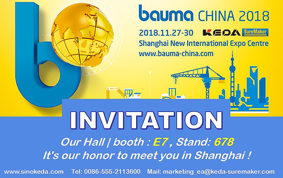 KEDA te invita a bauma CHINA 2018 !!!