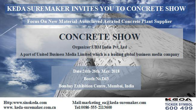 KEDA te invita a Concrete Show India 2018